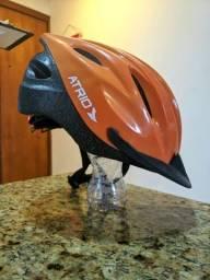 Capacete bicicleta ATRIO com LED seminovo