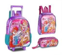 Clio Kit Infantil Winx ( Mochila, Lancheira e Bolsinha )