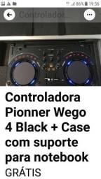 Controladora Pionner Wego 4 Black + Case com suporte para notebook