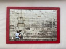 Quadro urban arts - moldura vermelha