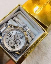 Kit Relógio Feminino Michael Kors MK6537 Original + Bracelete MK