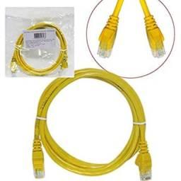 Cabo Para Internet Alta Velocidade Amarelo 1 metro