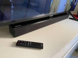 Soundbar Samsung | 2.2 Canais | 80W rms | Bluetooth | USB | Entrada Óptica |