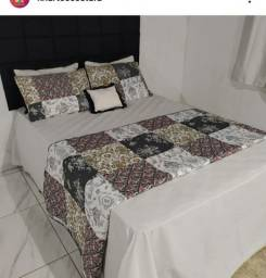 Jogo de cama em Algodão e Matelassê.