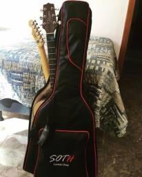 Título do anúncio: Semi-case Soth Luxo Dupla Violão Folk + Guitarra Tele/strato