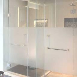 Película jateada para box de banheiros