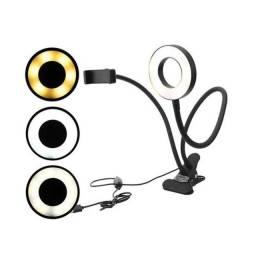Ring Light Articulado de Mesa Live Stream C/ Suporte