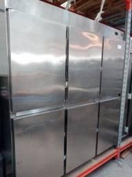 Camaria fria 6 portas inox interno