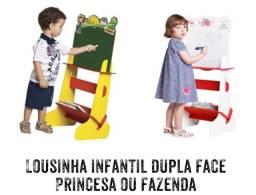 LOUSINHA INFANTIL DUPLA FACE ( PRINCESA OU FAZENDINHA )