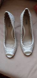 Sapato de salto branco Step One