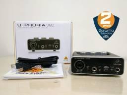 Interface de Áudio Behringer U-Phoria UM2 - USB - Nova, com garantia e NF
