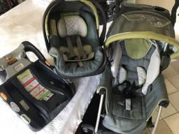 CHICCO Carrinho, bebê conforto e base para automóvel