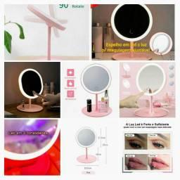 Espelho para maquiagem com luz ajustável