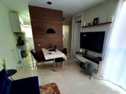 Apartamento 2 quartos todo em porcelanato e mobiliado com planejados e infra completa