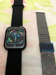 Smartwatch i5 + Pulseira Extra Milanese Brinde