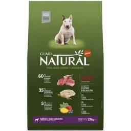 Ração Guabi Natural Cordeiro e Aveia para Cães Adultos Raças Média 15 kg