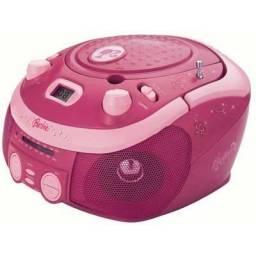 CD player c/ rádio AM-FM stéreo Barbie BRB-020 Lenoxx