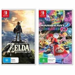 Mario Kart 8 e Zelda Nitendo Switch