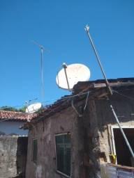 Vendo duas antenas, ja com LNB e cabos tudo correto