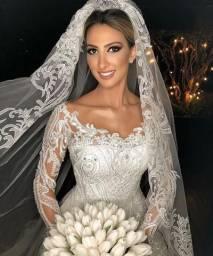 Vestido de noiva e madrinha/dama