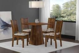 Oferta! Mesa com 4 Cadeiras Spazzio