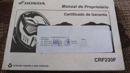 MANUAL MOTO XRE TITAN CRF230