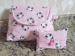 Necessaire + porta lenço (com lenço)