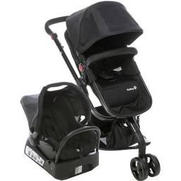 Carrinho e Bebê Conforto Travel System Mobi Full Black - Safety 1st - completo