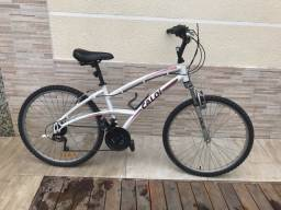 Bicicleta Caloi aluminum aro 26 com suspensão dianteira e 21 marchas