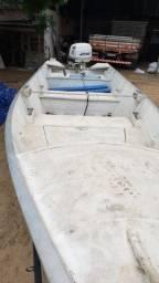 Barco aluminio,5,5m com motor poupa Johnson 25hp