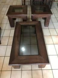 Conjunto com centro e duas mesas de canto