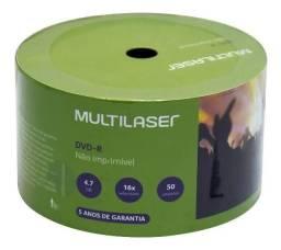 Dvd-r Multilaser 16x 4.7gb 50 Unidades + 50 Envelopes