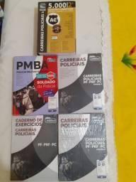 Livros e apostilas carreiras policiais
