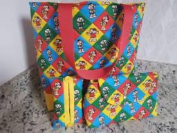 Kit bolsa + necessaire + porta lenço