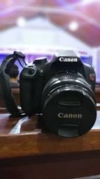 V/t câmera Canon T5 (9.578 mil clicks) aceito cartão