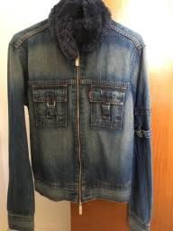 Jaqueta jeans feminina e masculina levis