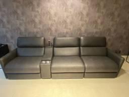 Sofá de Luxo - Elétrico, Retrátil, Reclinável e Touch!