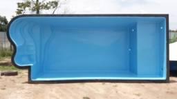 JA Piscina 7 metros - piscina de fibra com praia