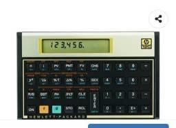 Calculadora Financeira  HP semi nova