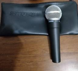 Microfone Original Shure SM58 LC Praticamente novo + acessórios