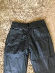 Barbadinhas jaqueta e calça couro legítimo lindas por 250