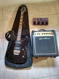 Guitarra, cubo e padeleira