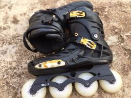 Vendo > Patins Oxer Darkness Gold - In Line - Freestyle - abec 9