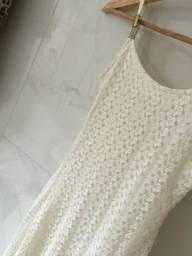 Vestido off white tamanho pp