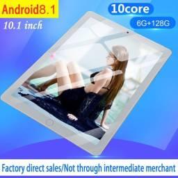 "Tablet importador 10.1"" Android 8 - RAM/ROM 6GB + 128GB Branco"