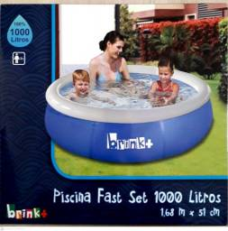 Piscina fast set 1000L (168cm x 51cm) - NOVO