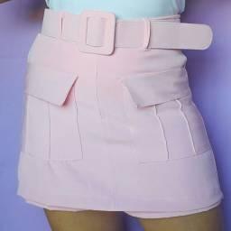 Short saia alfaiataria