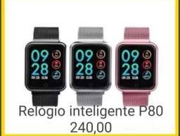 Relógio inteligente P80. Aceitamos cartões