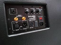 Subwoofer profissional par 18 polegadas sistema ativo 1500wrms total real.