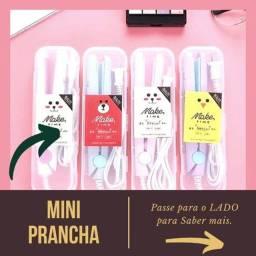 Presente das Mães - Mini Chapinha Portátil Prancha De Bolsa - C/ Estojo